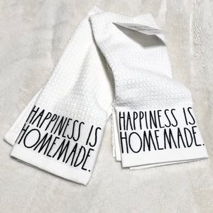 🆕Rae Dunn HAPPINESS IS HOMEMADE Kitchen Towels